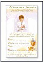Boys Communion Invitation Cards.
