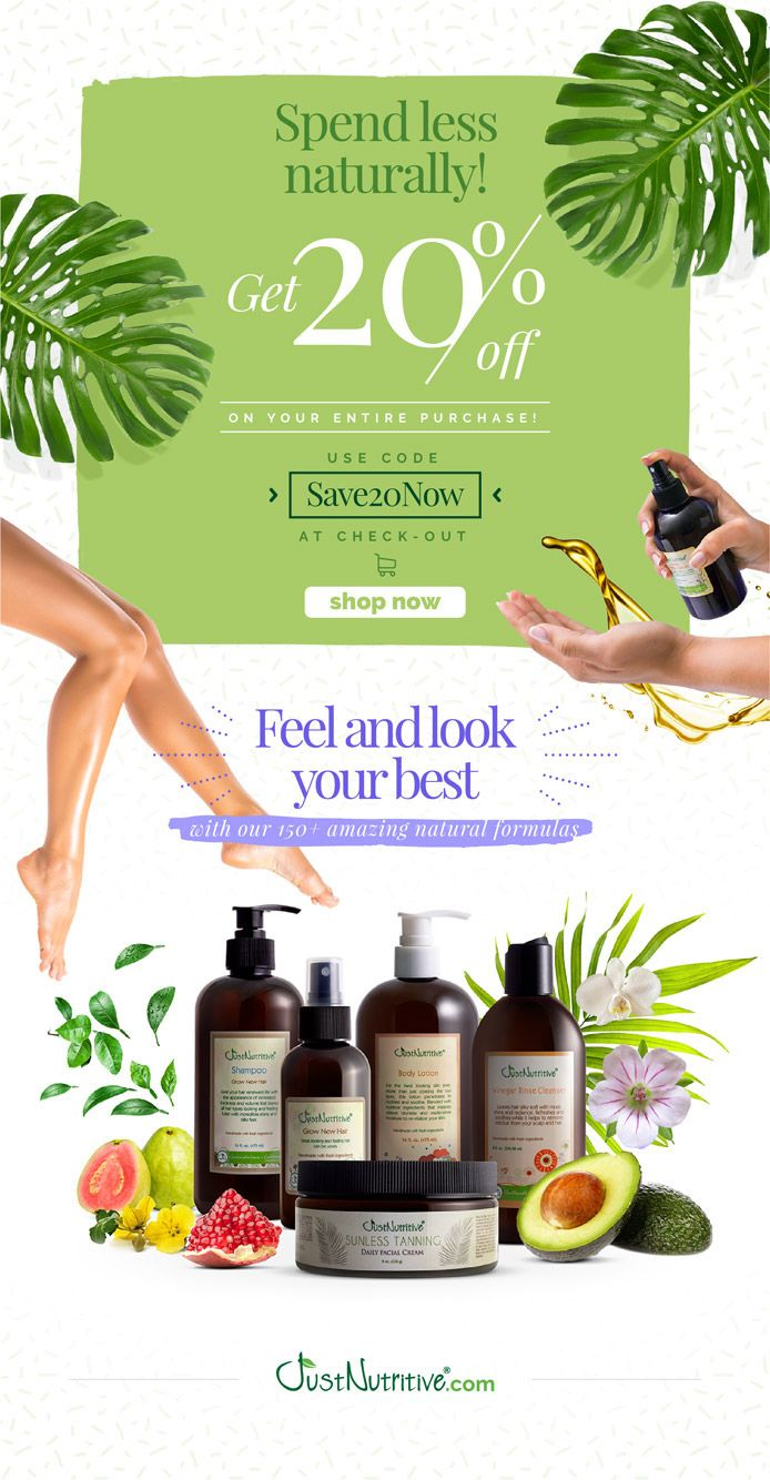 Coupon Save20now Just Nutritive Is Just Natural Skin Care Jpg Just Nutritive Skin Care Natural Skin Care