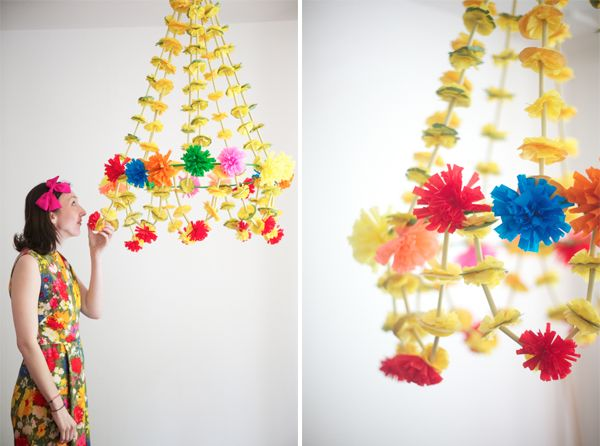 Giant paper Polish chandelier from Oh Happy Day. Imagine all these years of being Polish and I'd never heard of these before. Beautiful!