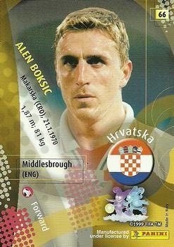 2002 Panini World Cup #66 Alen Boksic Back