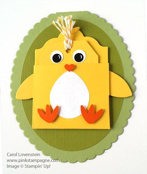 315 best pinkstampagne card designssu images on pinterest card easter chick gift card holder negle Images