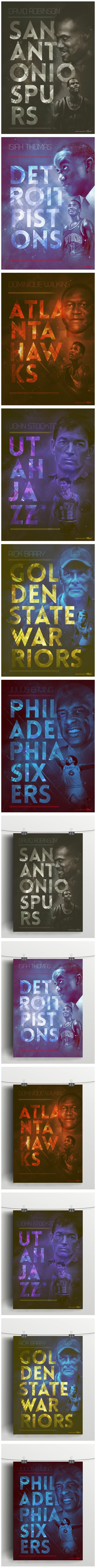 Vintage NBA posters - Collection 2 - by Caroline Blanchet