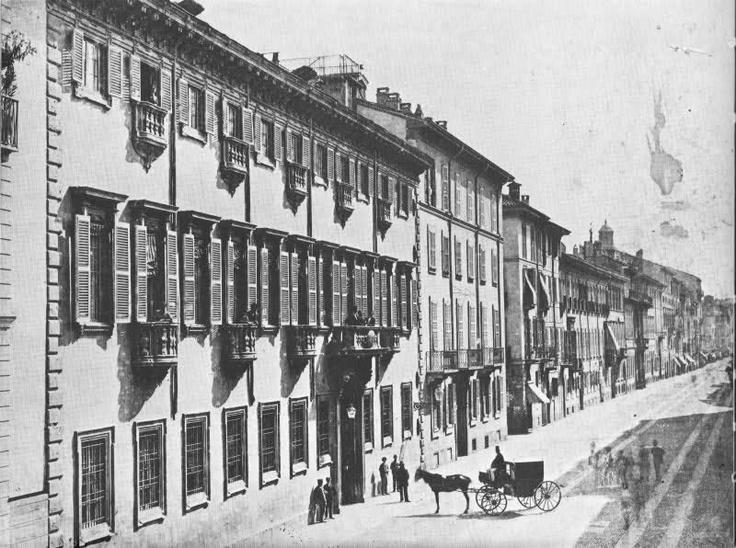 Corso di Porta romana, 1880 circa. Palazzo Acerbi.