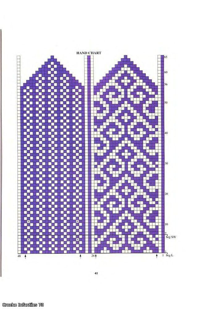 turkish pattern mittens: knitting tutorial - crafts ideas - crafts for kids