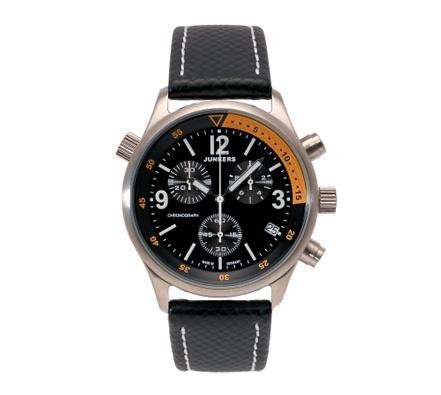 Relojes Junkers Cockpit Crono negro/naranja. http://www.tutunca.es/reloj-junkers-cockpit-crono-negro-y-naranja