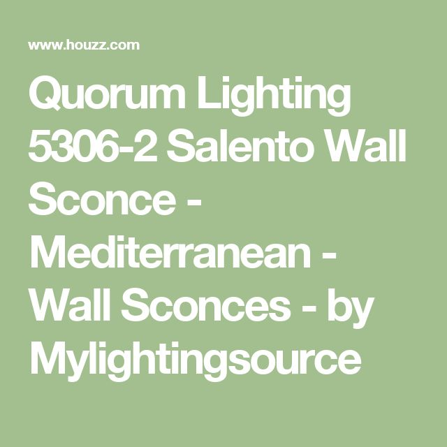 Quorum Lighting 5306-2 Salento Wall Sconce - Mediterranean - Wall Sconces - by Mylightingsource