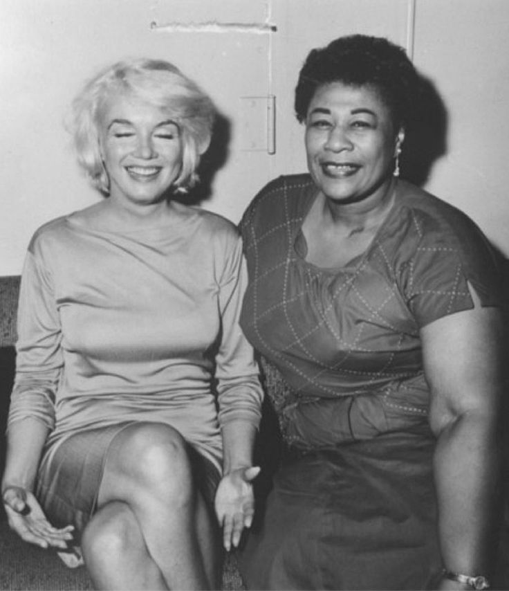 "In the 1950s, Ella Fitzgerald was not allowed to play Hollywood's most popular nightclub, Mocambo, because  of her race. Marilyn Monroe, who was a big fan, called the owner & told him that if he booked Ella, Marilyn would be there every night — which guaranteed huge press coverage. He booked Ella and Marilyn was there, front table, every night. Ella said, ""After that, I never had to play a small jazz club again. She was an unusual woman – a little ahead of her times. And she didn't know it."""