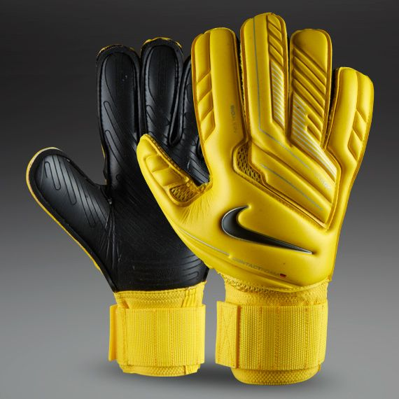 Nike Goalkeeper Gloves - Nike GK Premier SGT - Goalie Gloves - Goalkeeping - Yellow-Yellow-Black