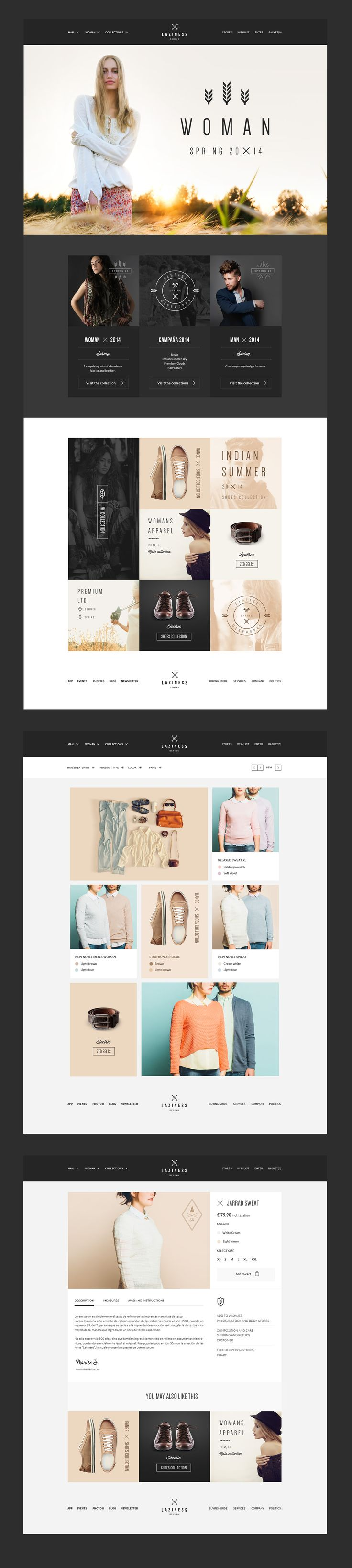 Laziness psd Template by Julian Shop on @creativemarket