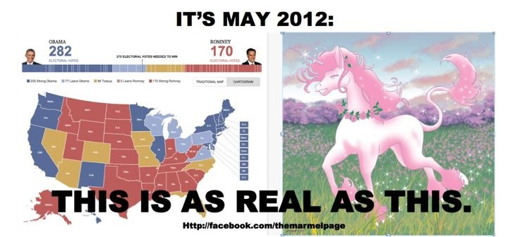 May political polls are like Unicorns.  Colorful and Fictional.