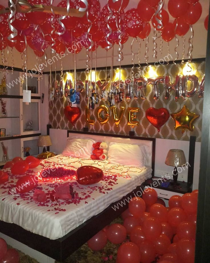 Surprise Room Decoration For Wife S Birthday Watch More