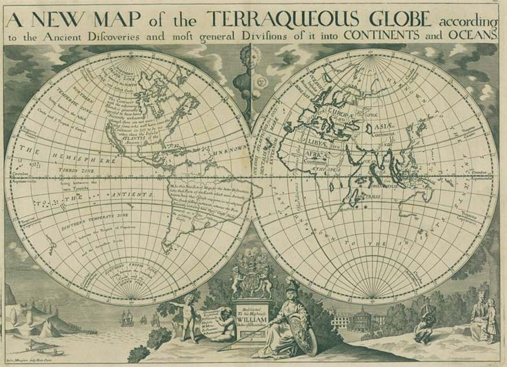 A New Map of the Terraqueous Globe : according to the the Ancient discoveries and most general Divisions of Geospatial Art