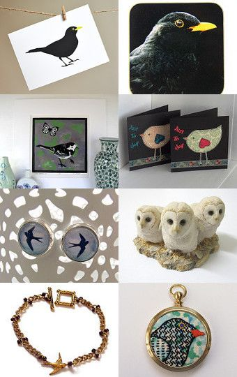 Bird on a Wire by Carolyn Ford on Etsy--Pinned with TreasuryPin.com