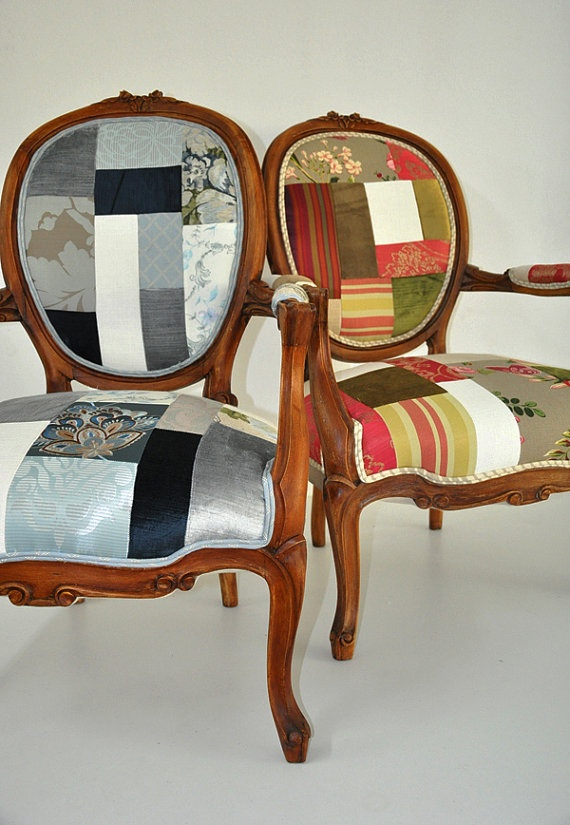 Love These Antique Reupholstered Chairs