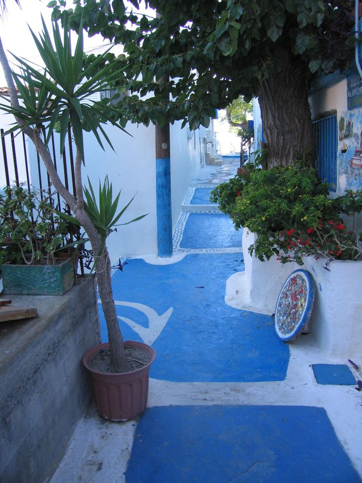 Pavement in Pythagorion, isle of Samos, Greece.
