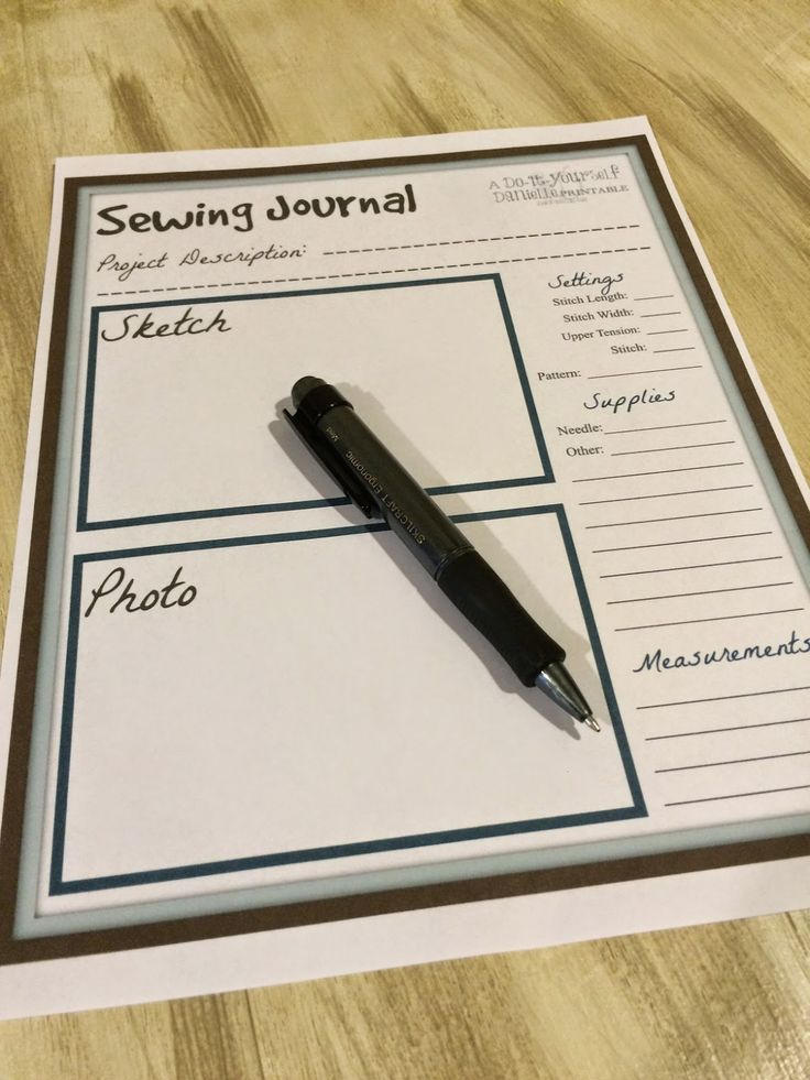 {FREE Printable} Sewing Journal