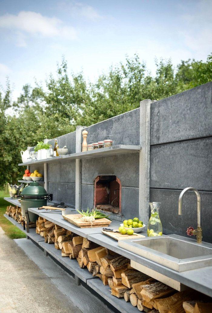 ▷ 1001 + Ideen und Bilder zum Thema Außenküche selber bauen