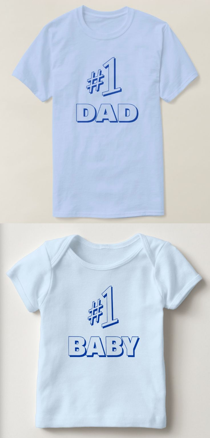 "Father's Day Gift Ideas: Father/Son Matching T-Shirts ""#1 DAD"" and ""#1 BABY"". (15% OFF with Discount Code: GIFTSFORDADZ) LOL Funny Seinfeld shirts"