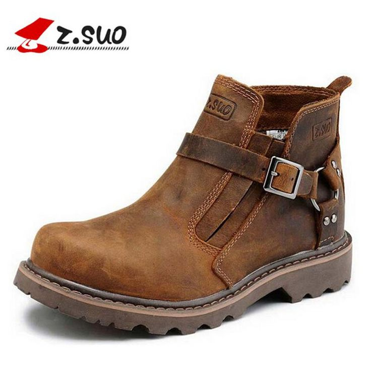 Handmade Cowhide genuine leather men boots working boots platform buckle fashion men shoes #>=#>=#>=#>=#> Click on the pin to check out discount price, color, size, shipping, etc. Save and like it!