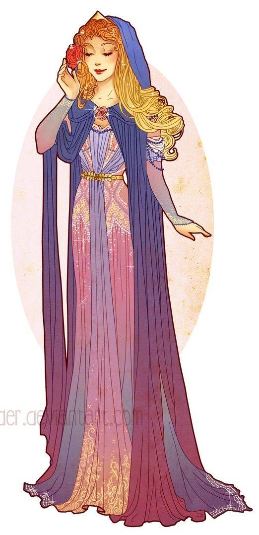 Art Nouveau Costume Designs VII: Aurora by Hannah Alexander
