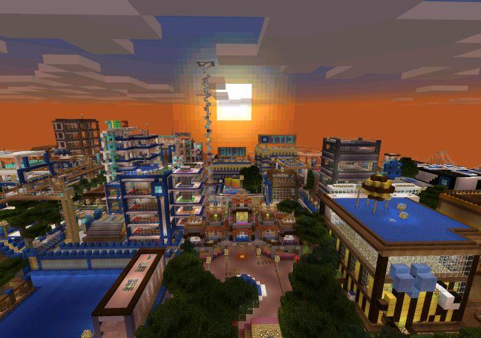 Blue City [Creation] | Minecraft PE Maps