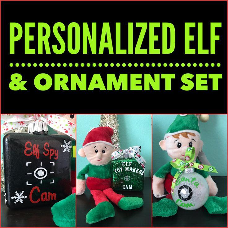 Elf spy camera Ornament, Santa Spy cam Ornament, Personalized Ornament by HollyJollyWorks on Etsy  Www.hollyjollyworks.com #santa #grinch #christmas #snow #winter #elves #christmastree #decorations #christmasmakeup #hair #nails #mac #fitness #health #bodywrap