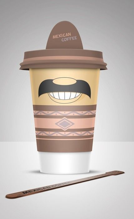 Good idea for a different look to a coffee cup
