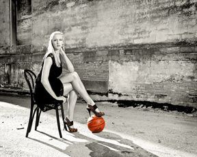 Never to old to love Basketball while learning just what heels can do for a woman!!!