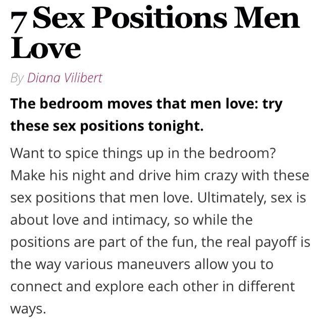 Good sex moves for men