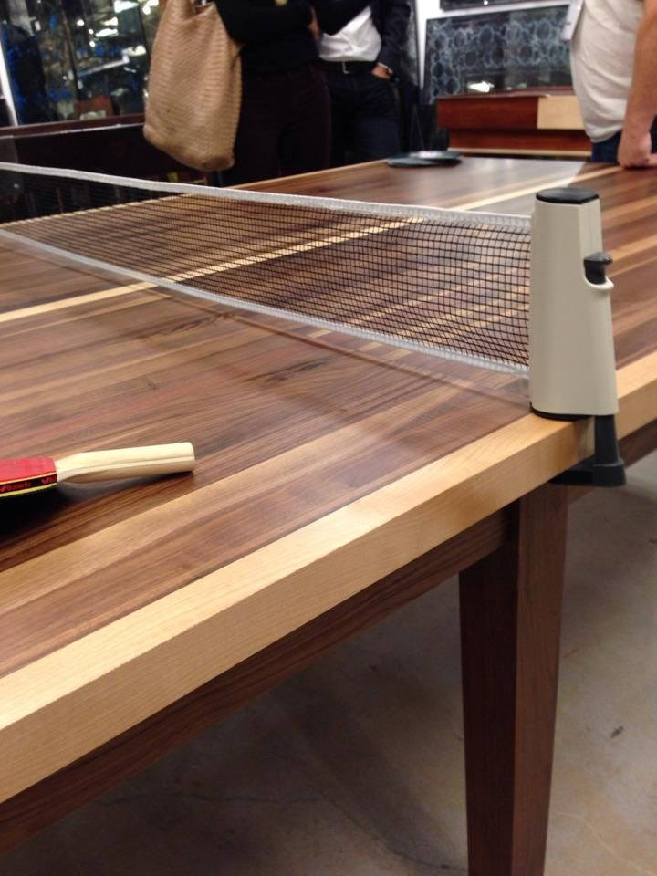 This is such a beautiful twist on the classic ping pong table!  Would you incorporate this piece into your home gameroom? #hpmkt #hpmkt2014 #shopgf | Houston TX | Gallery Furniture |