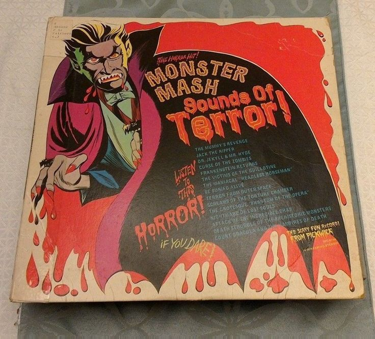 SOUNDS OF TERROR MONSTER MASH LP HALLOWEEN SCARY SOUNDS EFFECTS 1974 #Halloween
