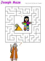 Joseph printable maze.: Joseph Coats, Joseph Mazes, Joseph Printable, Colors Maze, Advent Jesse Trees, Joseph Bible, Bible Class, Joseph Lessons, Class Joseph
