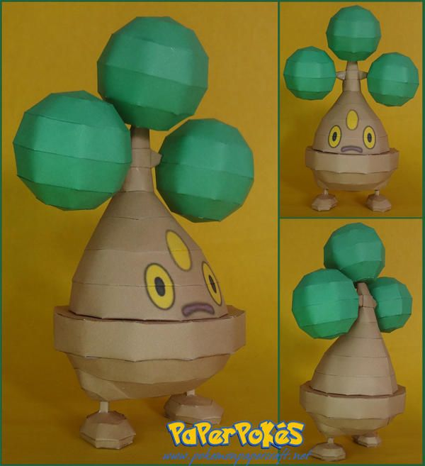 This Pokemon Papercraft Is Bonsly Usohachi A Rock Type Baby Based On The Anime Game Paper Model Was Created By LuIS