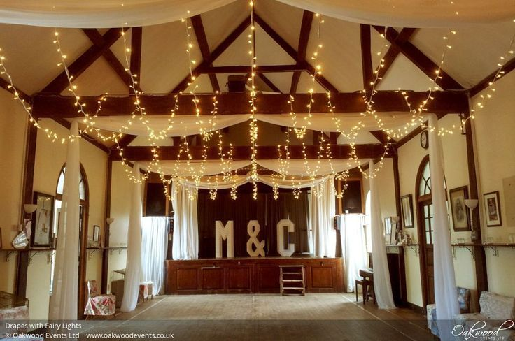 Drapes | Wedding and Event Lighting by Oakwood Events