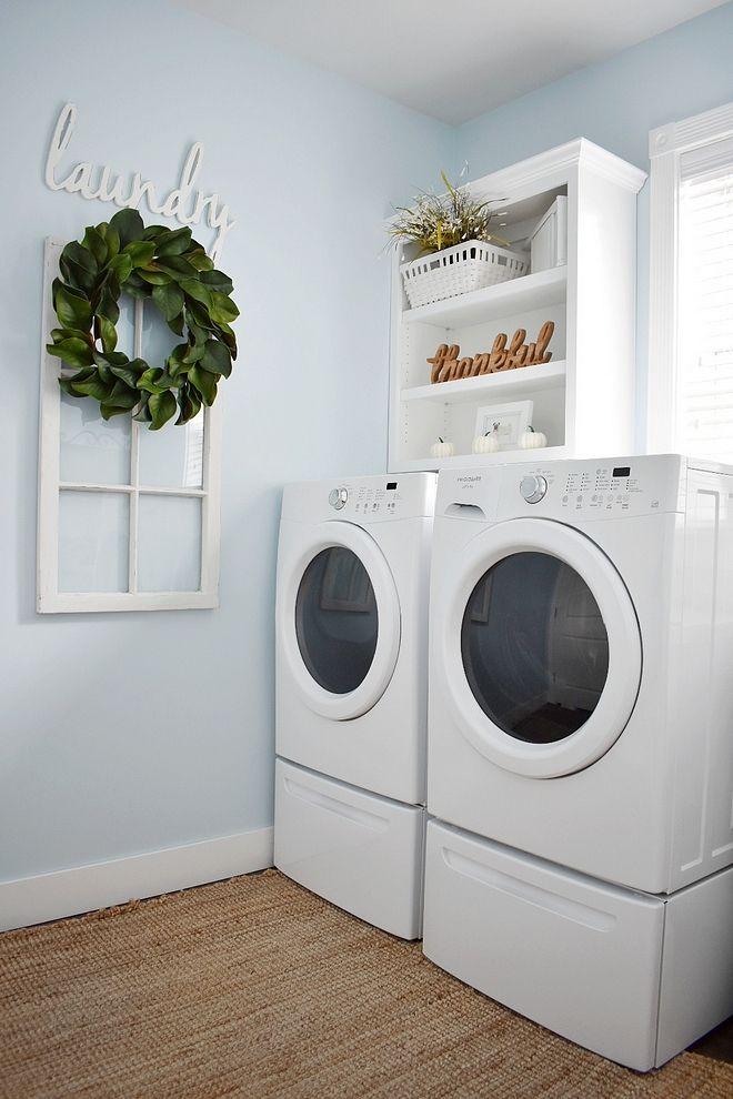 Glidden Polo Blue Laundry Room Paint Color Is Glidden Polo Blue Laundry Room Paint Laundry Room Paint Color Laundry Room Colors