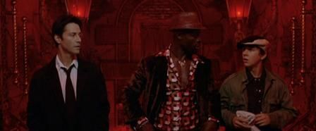 Keanu Reeves (as John Constantine), Djimon Hounsou (as Midnite) and Shia LaBeouf (as Chas Kramer) in 'Constantine'