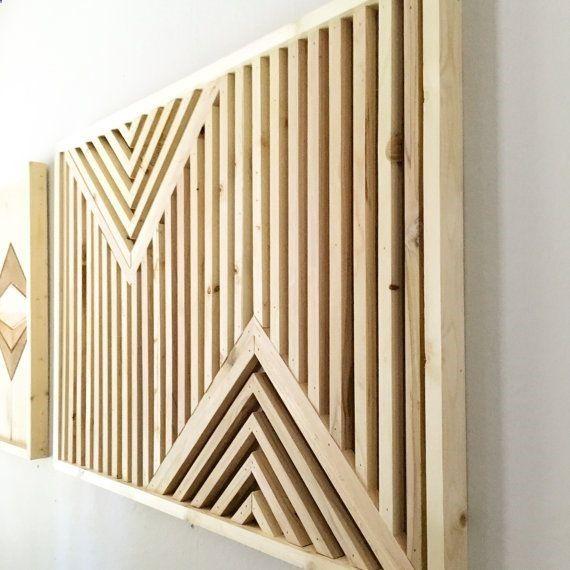 Un diy de déco murale en bois pour moins de 20 woods wood walls and wood art