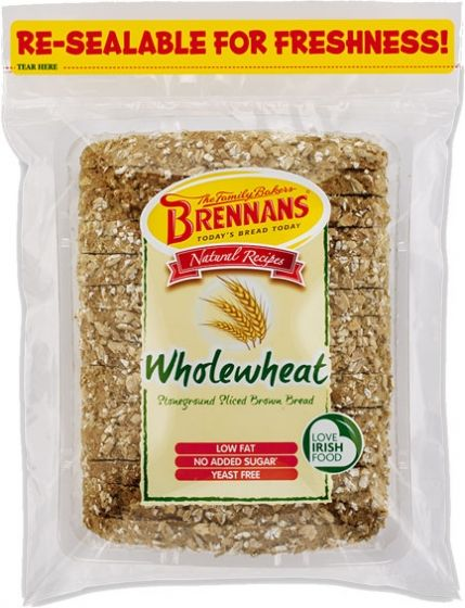 Brennan's Wholewheat Soda - Yeast free with no added sugar this bread is made from a traditional Brennan's recipe. No additives, colorings or preservatives. Delicious with soups, smoked salmon or with a traditional full Irish breakfast. Now available in USA $4.69