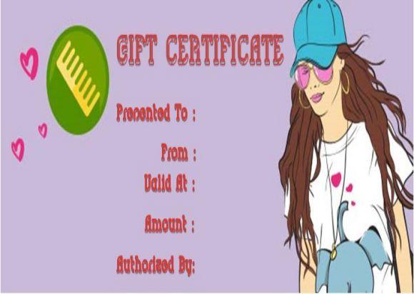 Hair Salon Gift Vouchers Salon Gift Certificate Templates