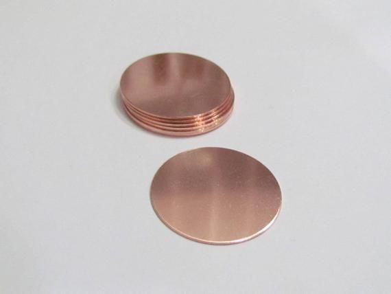 1 1 4 Copper Blanks 22 G Premium Round Metal Blanks Tumbled Blanks Stamping Blanks Metal Blanks Copper Disc Keychain Blanks Metal Blanks Stamping Blanks Stamp