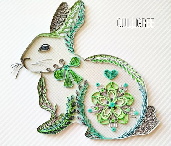 wow amazing quilled rabbit