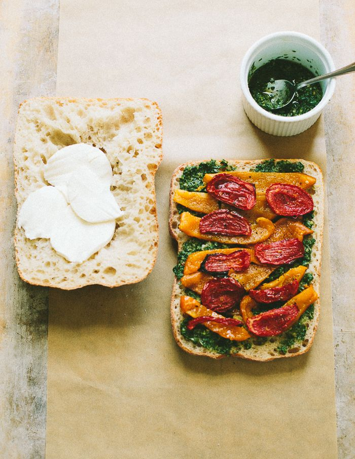 pressed roasted vegetable sandwich, @familystyle food