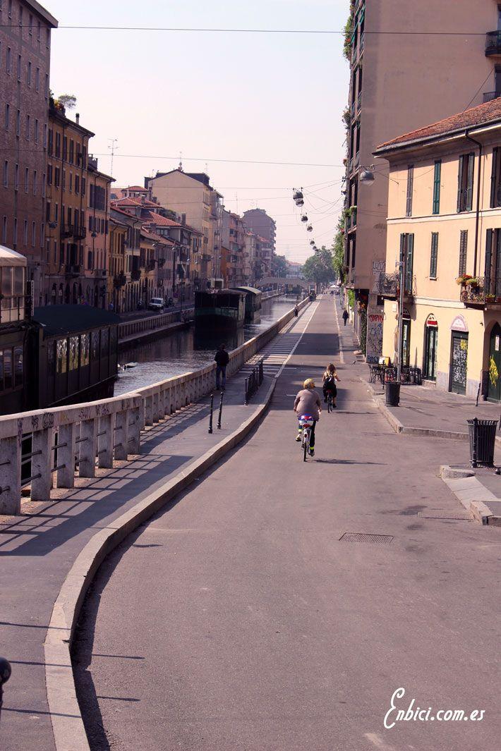 Milán, bici, paseo, Navigli, Milano, bike, style