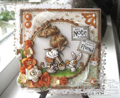 I created this card using Bunny's Choice by Elisabeth Bell for Whimsy Stamps. The stamp sentiments are from the Everyday Mini Postage Stamps set by Raindrop Echo Designs, also available at Whimsy Stamps.