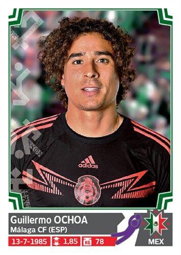 047 Guillermo Ochoa - Mexico - Copa America Chile 2015 - PANINI