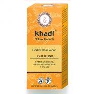 Vopsea naturala de par cu henna Blond Deschis de la Khadi Naturprodukte Gmbh. Culoare, stralucire, volum #vopseanaturaladepar #henna #khadi #sanantate #cosmeticebio