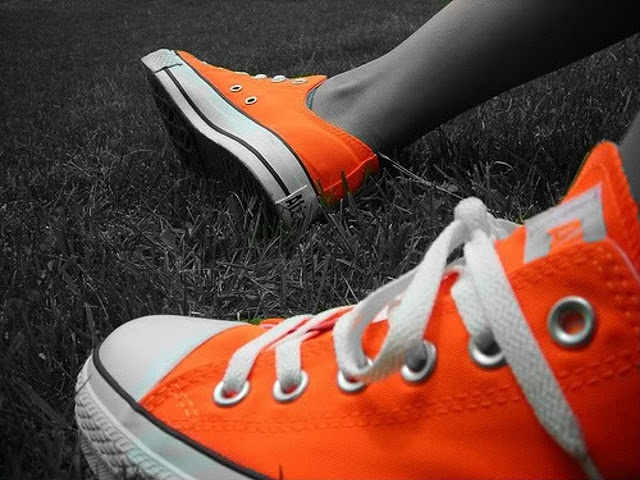 bright orange converse! I GOT THESE YESERDAY! Ive never been in love with shoes but now i am!