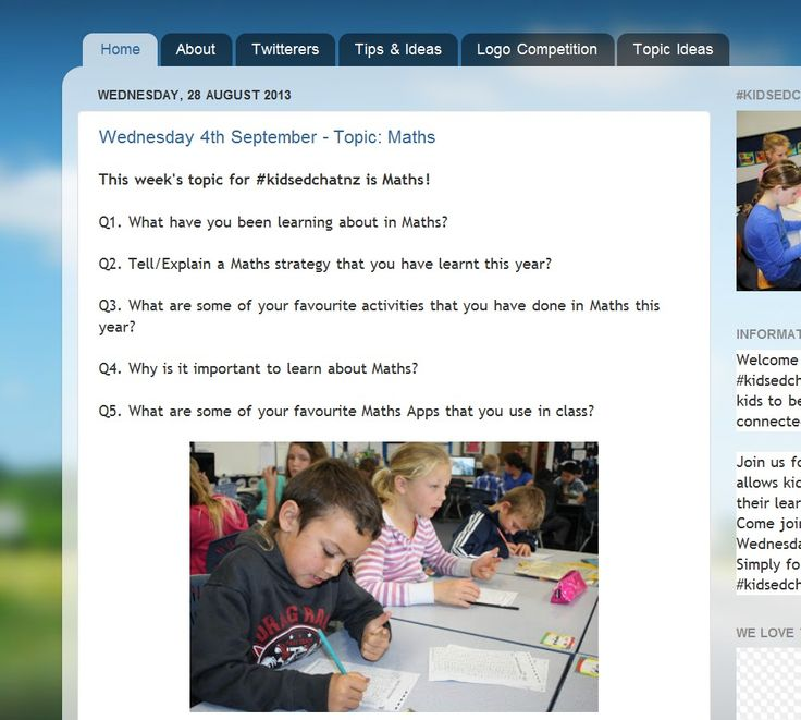 Screenshot from #Kidsedchatnz