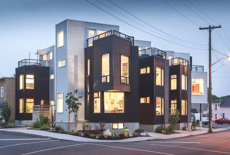 Colizza Bruni designs modern homes clad in metal siding, Canada - Adelto