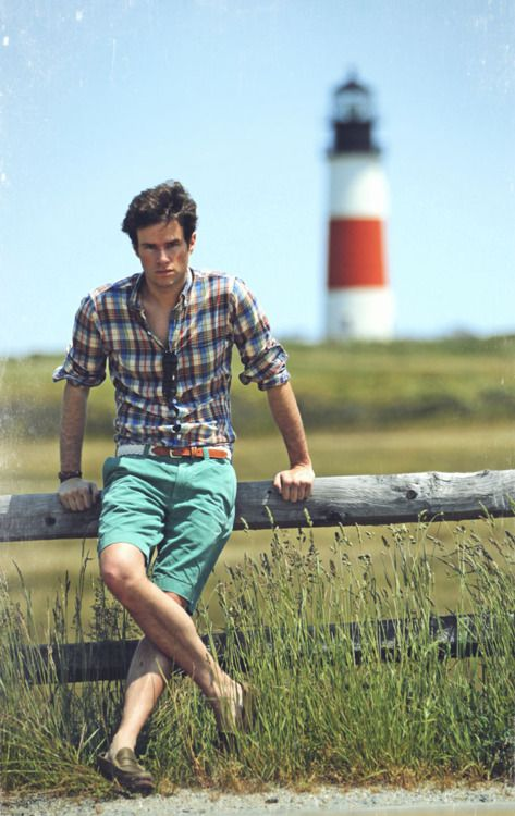 Men Summer, Summer Looks, Colored Shorts, Summer Style, Colors Shorts, Men Style, Men Fashion, Plaid Shirts, Spring Outfit